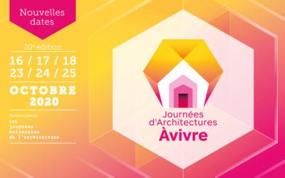 2020-24/10-25/10 – À vivre : journées d'Architectures